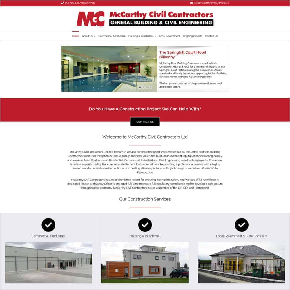 McCarthy Civil Contractors Ltd - New Website Launched